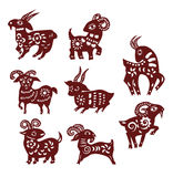 Sheep paper cut Royalty Free Stock Photos