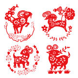 Sheep paper cut. Design element Stock Images