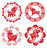 Sheep paper cut Royalty Free Stock Image