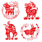 Sheep paper cut. Element design Royalty Free Stock Photography