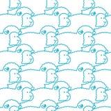 Sheep pattern. ewe ornament. Flock of sheeps. Farm animal backgr Stock Photos