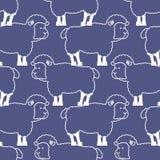 Sheep pattern. ewe ornament. Flock of sheeps. Farm animal   Stock Photography