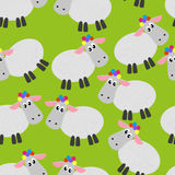 Sheep pattern Royalty Free Stock Photo