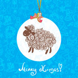 Sheep pattern vector background Royalty Free Stock Images