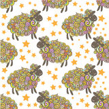 Sheep pattern vector background Royalty Free Stock Image