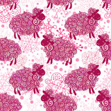 Sheep pattern vector background Stock Image