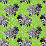 Sheep pattern vector background Stock Images