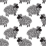 Sheep pattern vector background Royalty Free Stock Photo