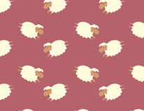 Sheep pattern vector illustration. Hand drawn style sheep vector pattern Royalty Free Stock Photos