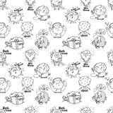 Sheep pattern Royalty Free Stock Images