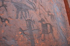 Sheep Petroglyphs. Anasazi Royalty Free Stock Images