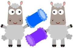 Sheep and pillows Royalty Free Stock Photo
