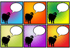 Sheep in pop art Royalty Free Stock Image