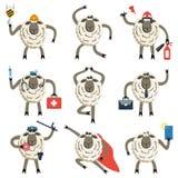 Sheep professional character vector set. Stock Photo