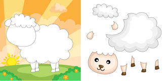 Sheep puzzle royalty free illustration