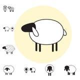 Sheep or Ram Icon, Logo, Template, Pictogram Royalty Free Stock Photos