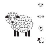 Sheep or Ram Icon, Logo, Template, Pictogram Stock Photos