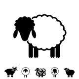 Sheep or Ram Icon, Logo, Template, Pictogram Stock Image