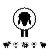 Sheep or Ram Icon, Logo, Template, Pictogram Royalty Free Stock Images