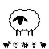Sheep or Ram Icon, Logo, Template, Pictogram Royalty Free Stock Image