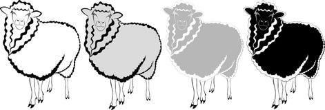 Sheep ram lamb. Agriculture animal royalty free illustration