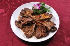 Sheep ribs. China delicious food  Roasted lamb chops Royalty Free Stock Images