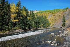Sheep River Valley In Autumn Royalty Free Stock Photos