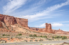 Sheep Rock in Arches National Park Stock Photos