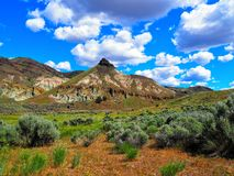 Sheep Rock, John Day Fossil Beds. Stunning Sheep Rock at John Day Fossil Beds National Monument, Oregon, United States of America Royalty Free Stock Image