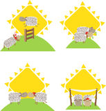 Sheep and Romance. Cute vector illustration of sheep in relationship. Eps10 Stock Photo