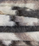 Sheep's blankets selling Royalty Free Stock Photography