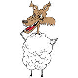 Sheep's clothing wolf Stock Images