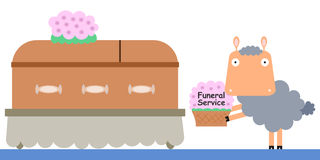 Sheep's funeral service Stock Image