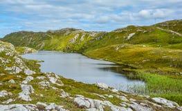 Stunning irish landscape, Lough Akeen near Sheep`s Head, Coomacullen, County Cork, Ireland Stock Image