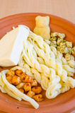 Sheep's-milk assorted cheeses Royalty Free Stock Image
