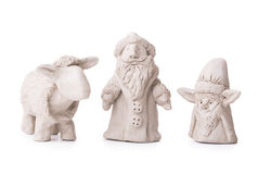 Sheep, Santa Claus, elf toy clay Royalty Free Stock Photography