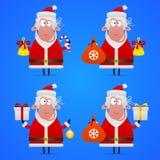 Sheep Santa Claus in various poses Royalty Free Stock Image