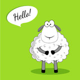 Sheep say hello. Sheep, cartoon, vector, sheep say hello Stock Photography