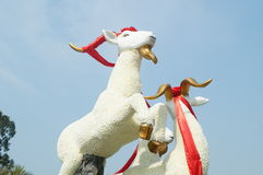 Sheep sculpture landscape Royalty Free Stock Photography