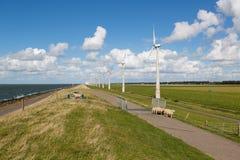 Free Sheep, Sea And Wind Turbines Stock Photos - 28016723