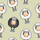 Sheep Seamless pattern Stock Photo