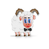 Sheep seriouse man Royalty Free Stock Photography