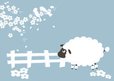 Sheep and seson royalty free illustration