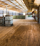 Sheep shearing shed now abandoned. Inside a sheep shearing shed Australia Royalty Free Stock Photo
