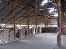 Sheep Shearing Station, Australia. Sheep Shearing Station, Willandra Lakes National Park, Australia Stock Photo