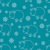 Sheep sketch. Seamless vector pattern with Sheep sketch 2015 Stock Photos
