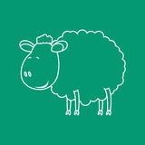 Sheep sketch. Vector illustration with Sheep sketch 2015 Stock Image