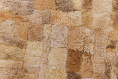 Sheep skins on sale in the village Lahij- Azerbaijan Stock Photos