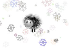 Sheep and snow Royalty Free Stock Images