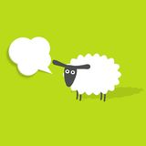 Sheep with speech bubble Stock Photo